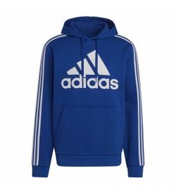 Sudadera Essentials Fleece 3 Bandas Logo azul