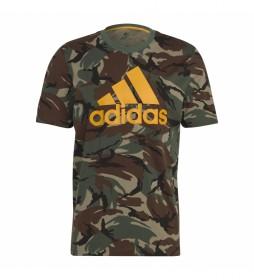 Camiseta Essentials Camouflaje verde, marrón
