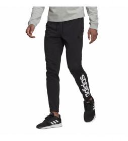 Pantalón Essentials Tapered Elastic Cuff Linear negro