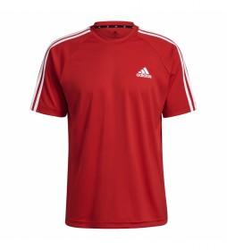 Camiseta Sereno 3 Rayas rojo