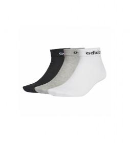 Pack de 3 calcetines NC ANKLE 3PP negro, blanco, gris