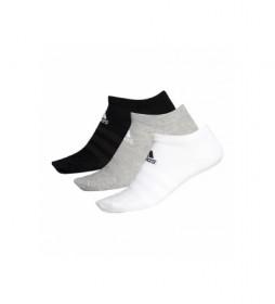 Pack de 3 Calcetines Light Low 3PP gris, blanco, negro