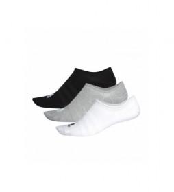 Pack de 3 Calcetines Piqui Light negro, blanco, gris