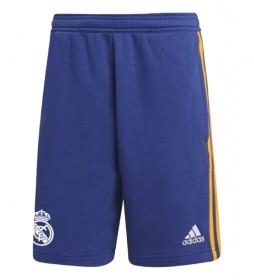 Shorts Real Madrid 3 bandas azul
