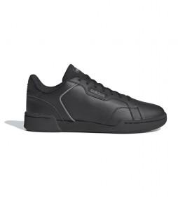 Zapatillas de piel Roguera negro