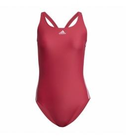 Bañadora SH3.RO Classic 3-Stripes rosa