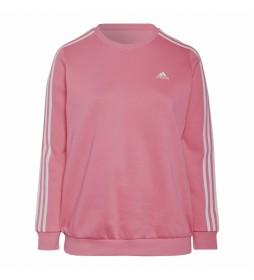 Sudadera Essentials Fleece 3 bandas (Tallas grandes) rosa