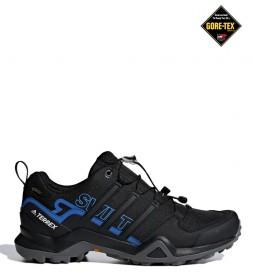 adidas Terrex Zapatilla TERREX Swift R2 GTX negro, azul / Gore-Tex / 350g