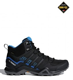 adidas Terrex Zapatilla TERREX Swift R2 Mid GTX negro, azul / Gore-Tex / 415g