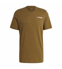 adidas Terrex Camiseta Terrex Mountain Graphic mostaza