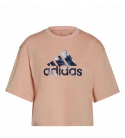 Camiseta You for You Cropped Logo rosa