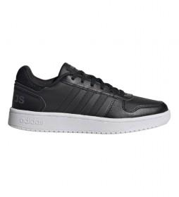 Zapatillas de piel Hoops 2.0 negro