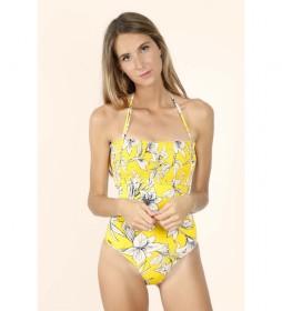 Bañador Copa Yellow Flowers amarillo