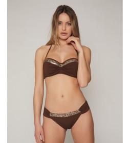 Bikini Bandeau Bright Sequins chocolate