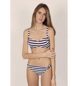 Bikini Bandeau Push Up Sailor marino