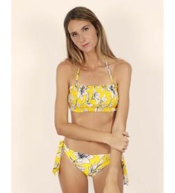 Bikini Bandeau Yellow Flowers amarillo