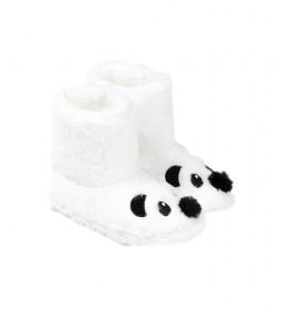 Botas/Zapatillas de casa Panda blanco roto