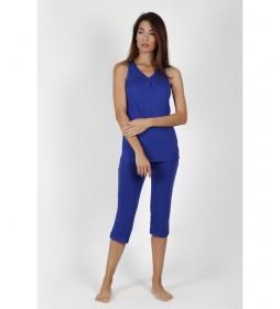 Pijama Tirantes Solid Colours azul