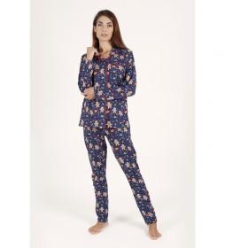 Pijama Abierto Sharing Happiness marino