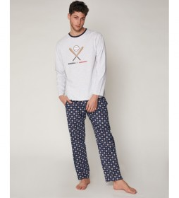 Pijama Baseball gris