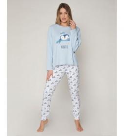 Pijama Cool Winter azul