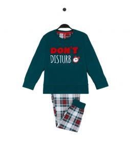 Pijama Do Not Disturb verde botella
