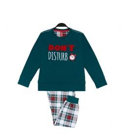 Pijama Do Not Disturb verde