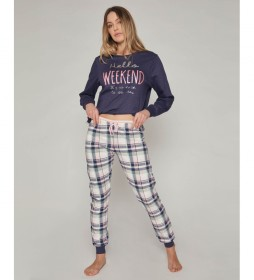 Pijama Hello Weekend azul, multicolor