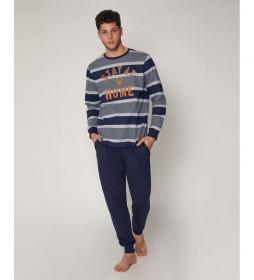Pijama House marino, gris