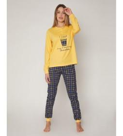 Pijama Morning Chocolate amarillo