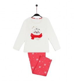 Pijama My Little Seal Friend blanco roto, rosa