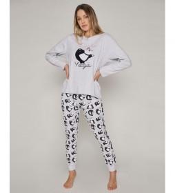 Pijama Panda Yoga gris