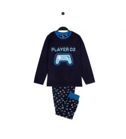 Pijama Player azul