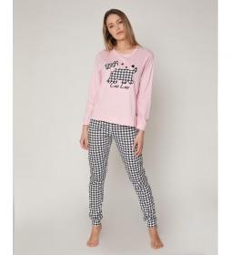 Pijama Sweet Lou Lou rosa, negro