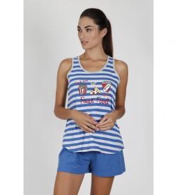 Pijama Tirantes Fast Food azul
