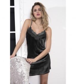 Camisón Sexy Velvet negro