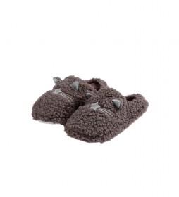 Zapatillas De Estar Por Casa Borreguito gris
