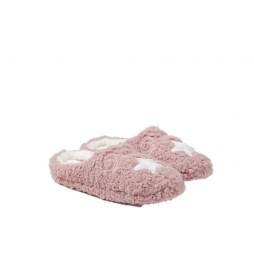 Zapatillas de casa Estrella rosa