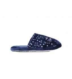 Zapatillas de casa Gatito azul