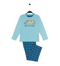 Pijama Back to Work azul
