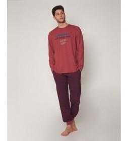 Pijama Monday burdeos