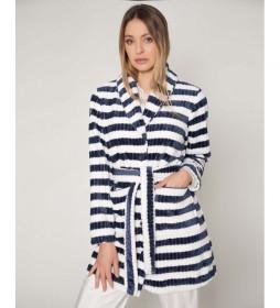 Bata  Elegant Line azul marino, blanco