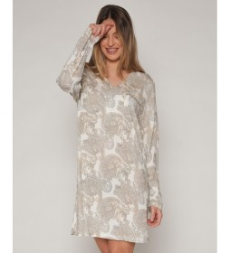 Pijama Camisola Natural Cashmere beige