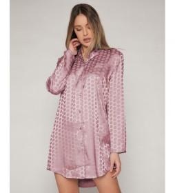 Camisón Satin Dots rosa