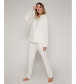 Pijama Lace Night crudo
