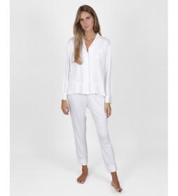 Pijama Night Soft blanco