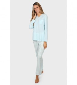 Pijama Classic Stripes azul