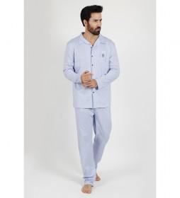 Pijama Manga Larga Fresh & Soft  marino