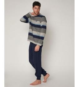 Pijama Jupiter azul, gris