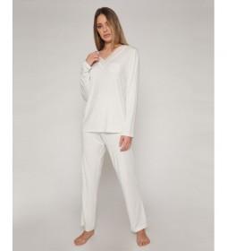 Pijama Lace Night gris claro